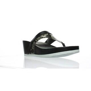 Softwalk Womens S1708-023 Black/White Slides Size 6.5 (AA,N)