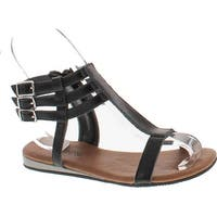 Kenneth Cole Girls Wishing Shell Fashion Sandals - Black