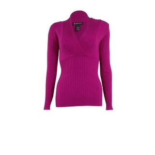Inc International Concepts Women's Ribbed V-Neck Knit Sweater