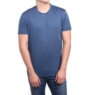 Z Zegna by Ermenegildo Zegna Men Double Collar T-Shirt Blue