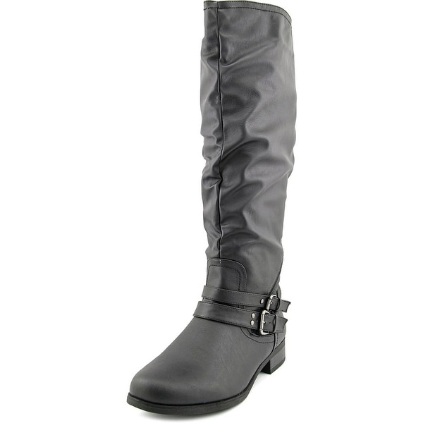 XOXO Marcel Wide Calf Women Round Toe Synthetic Knee High Boot