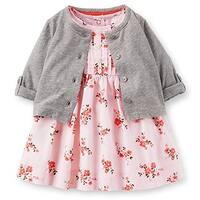 Carter's Baby Girls' Sateen Floral Dress Set -6 Months