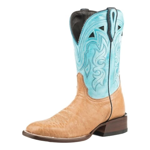 """Stetson Western Boots Womens Florence 11"""" Tan"""
