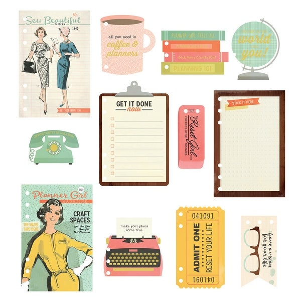 Reset Girl Dashboard Inserts A5 12/Pkg-Foil Accents