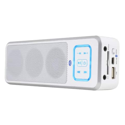 Bluetooth Speaker System White Take Your Music W/You & Get World-Class Sound Wherever You Go Battery