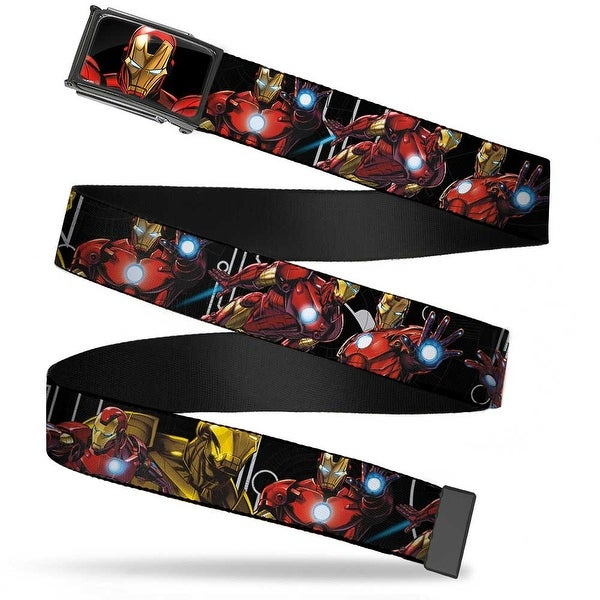 Marvel Avengers Iron Man Face (Marvel Avengers) Fcg Chrome Marvel Web Belt
