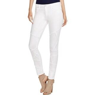 Elie Tahari Womens Azella Skinny Jeans Frayed Patchwork
