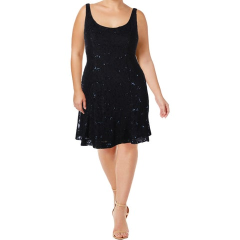 Lauren Ralph Lauren Womens Halona Party Dress Lace Sequined