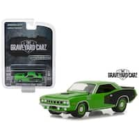 "1971 Plymouth Hemi Cuda Green ""Graveyard Carz"" (2012) TV Series Hollywood Series 20 1/64 Diecast Model Car by Greenlight"