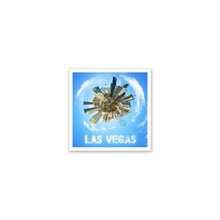 Las Vegas - City Planets - 12x12 Matte Poster Print Wall Art