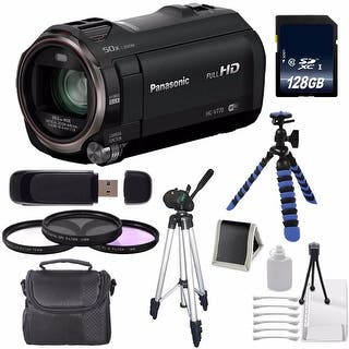 Panasonic HC-V770K Full HD Camcorder + 128GB SDXC Class 10 Memory Card + Full Size Tripod 12-Inch Flexible Tripod Bundle|https://ak1.ostkcdn.com/images/products/is/images/direct/52462d207ab577080e9791e7b97af9125156671a/Panasonic-HC-V770K-Full-HD-Camcorder-%2B-128GB-SDXC-Class-10-Memory-Card-%2B-Full-Size-Tripod-12-Inch-Flexible-Tripod-Bundle.jpg?impolicy=medium