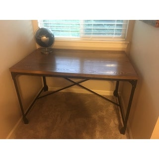 antique home office desk. Carbon Loft Edelman Antique Bronze Wood/Metal Home Office Desk