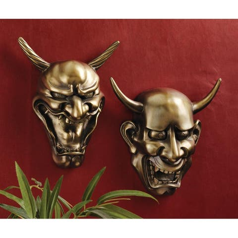 Design Toscano Hannya Demon Mask Wall Sculptures