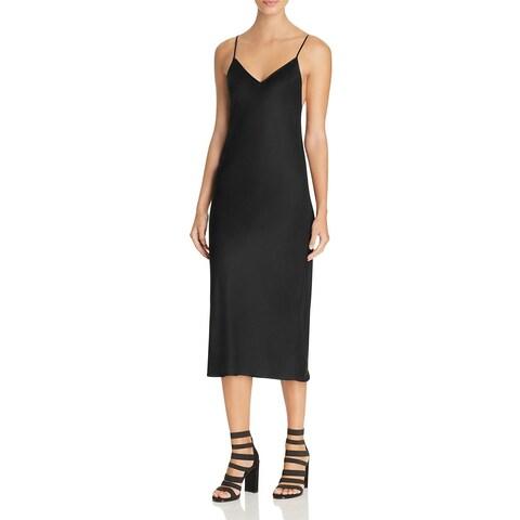 DKNY Womens Petites Slip Dress V-Neck Sleeveless