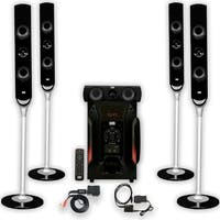 Acoustic Audio AAT1000 Tower 5.1 Speaker System with Bluetooth and Optical Input