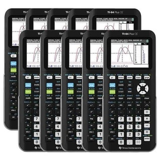 Texas Instruments Programmable Color Graphing Calculator Black (10-Pack) Texas Instruments TI-84 Plus CE Graphing Calculator -