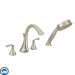 Moen T944  Deck Mounted Roman Tub Filler Trim with Personal Hand Shower and Built-In Diverter from the Eva Collection (Less
