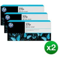 HP 771A 3-Cartridges 775-ml Photo Black DesignJet Ink Cartridges (B6Y45A) (2-Pack)