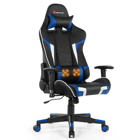Goplus Massage Reclining Gaming Chair