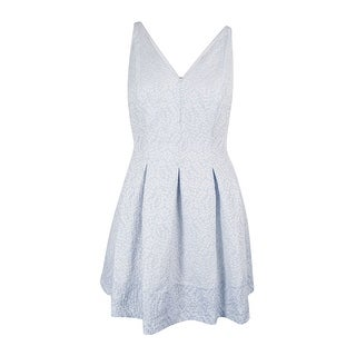 Lauren Ralph Lauren Women's V-neck Jacquard Dress - 16