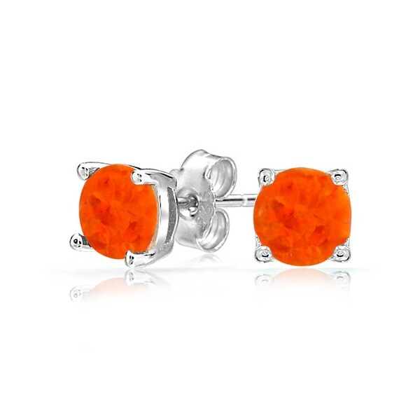 Bling Jewelry Synthetic Mexican Fire Opal Gold Plated Silver Leverback Drop Earrings RP7BTsOj