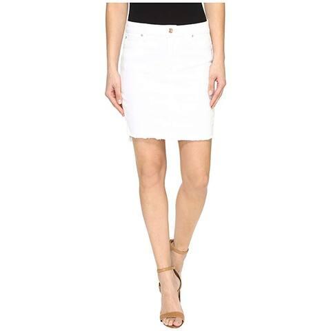 Joe's Women's High-Low Hem Skirt, White, 27