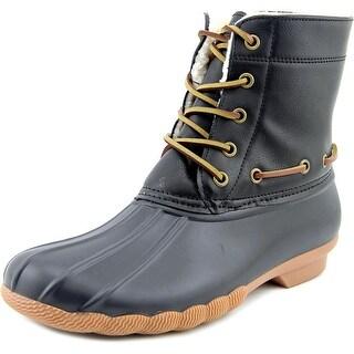 Seven7 Speyside Women  Round Toe Synthetic Black Rain Boot