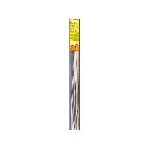 "Floracraft Stem Wire 26ga White Wrap 18"" 24pc"