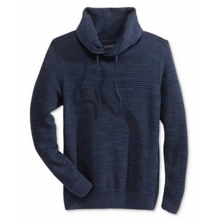 American Rag NEW Blue Men's Size Medium M Mix Funnel Neck Sweater
