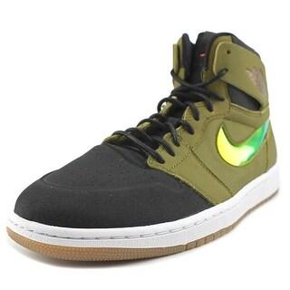 Jordan Air Jordan 1 Retro High  Men  Round Toe Leather Green Sneakers
