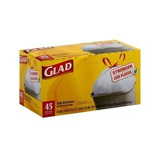 Glad 78362 Tall Kitchen Trash Bag, White
