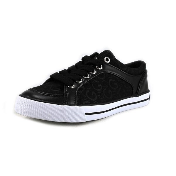 G By Guess Oulala Women Round Toe Canvas Black Sneakers