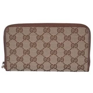 f9c55d2c6c4b Shop Gucci 363423 Women's GG Guccissima Canvas Zip Around Wallet Clutch -  7.75