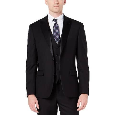 Ryan Seacrest Distinction Mens Tuxedo Jacket Stretch Slim Fit - Black