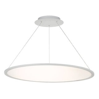 """WAC Lighting PD-31735 Illusion Single Light 35"""" Wide Integrated LED Chandelier"""