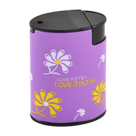 Cylindrical Shaped Plastic Toothpick Holder Storage Box Case for Home Office
