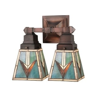 "Meyda Tiffany 48182 12"" W Valencia Mission 2 Light Wall Sconce"
