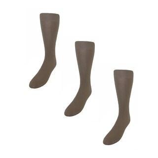 Ecco Men's Merino Wool Dress Socks (Pack of 3) - Tan - One Size