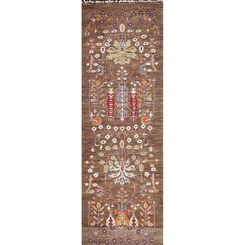 "Vegetable Dye Kazak Oriental Long Wool Runner Rug Hand-knotted Carpet - 2'7"" x 19'7"""