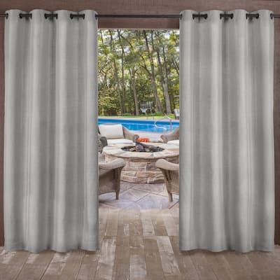 ATI Home Biscayne Indoor/Outdoor Grommet Top Curtain Panel Pair