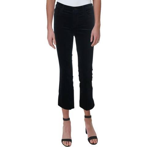 J Brand Womens Selena Bootcut Pants Velvet Cropped