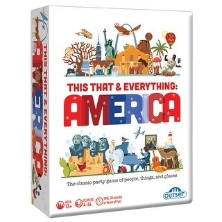 Outset Media This That and Everything America Card Game - Family and Party Activity - MultiColor