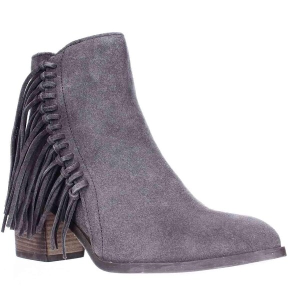 Kenneth Cole REACTION Rotini Side Fringe Ankle Boots, Putty