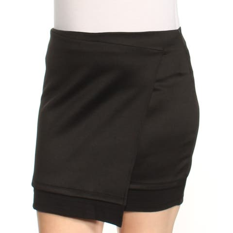RALPH LAUREN Womens Black Mini Body Con Skirt Size: XL