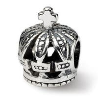 Sterling Silver Reflections Crown Bead (4mm Diameter Hole)