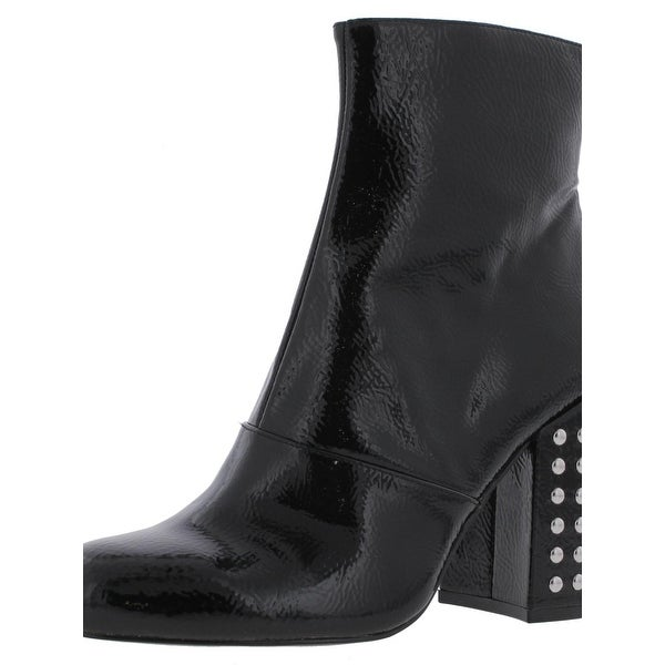 Steve Madden Womens Galley Ankle Boots Patent Studded
