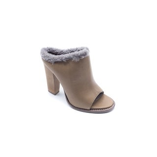 Brunello Cucinelli Womens Taupe Sherling Slides Sandals - 7