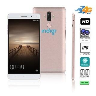 Indigi Unlocked 4G LTE Android 7 Nougat Octa-Core 1.3GHz 6-inch SmartPhone (Fingerprint Scan + 2SIM Slots + 13MP CAM)(Rose Gold)