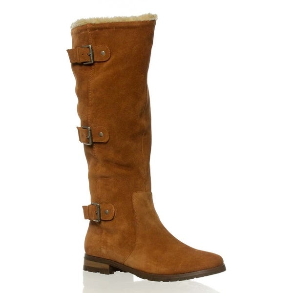 A. Vermont Knee-High Boots - Light Brown - 6