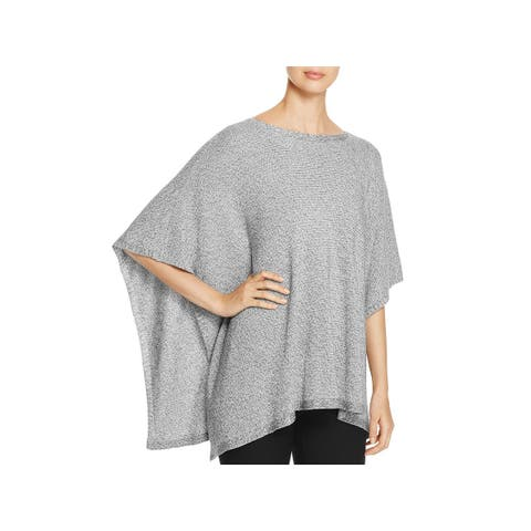 Eileen Fisher Womens Poncho Sweater Bateau Neck Open Sides